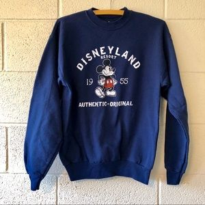 Disneyland Navy Crew Neck Sweatshirt Size Small